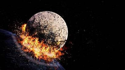 Explosion Space Hit Blast Wallpapers Fragments Iphone