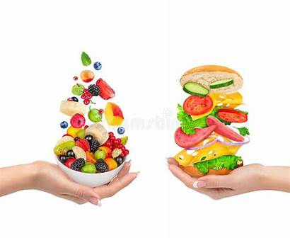 Unhealthy Healthy Choice Fruit Choices Foods Background