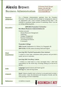 resume format for administration business administration resume exles 2017