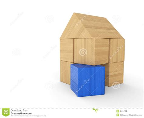 house made of blocks wooden building block house stock photography image 31247792