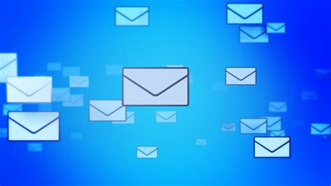 Background Email by Email Envelopes Flying Animation Stock Footage