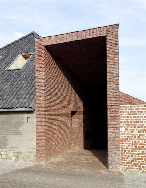 Rabbit Hole Brick House By Lens°ass Architecten Yellowtrace