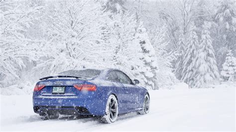 Car, Snow, Audi Rs5 Wallpapers Hd / Desktop And Mobile