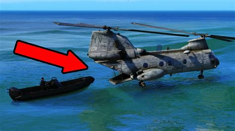 Boat Driving Into Helicopter by Epic Boat Helicopter Escape Rescue