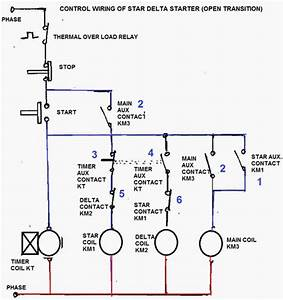 Oil And Gas Electrical And Instrumentation Engineering  Star  Delta Starter Control Circuit