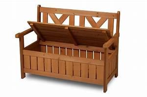Banc De Rangement Extérieur : banc de jardin bois avec coffre de rangement int gr ~ Teatrodelosmanantiales.com Idées de Décoration