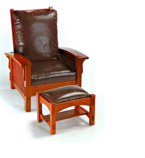 Chair And Ottoman Set Sale by Mission Oak Spindled Morris Chair Ottoman Ac9631 Sale Ebay