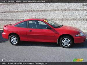 Bright Red - 2001 Chevrolet Cavalier Coupe - Graphite ...