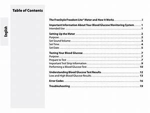Abbott Freestyle Freedom Lite User Manual