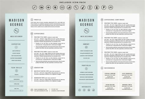 cover letter pages template the best cv resume templates 50 examples design shack
