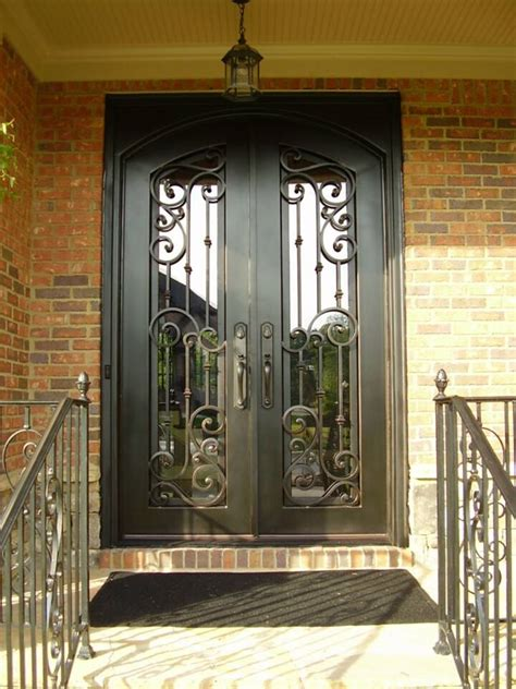 rod iron doors wrought iron entry doors home ideas collection best