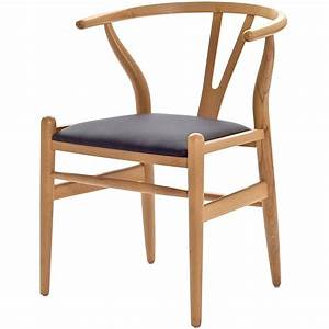 Hans Wegner Chair : hans wegner wishbone chair with leatherette seat modern ~ Watch28wear.com Haus und Dekorationen