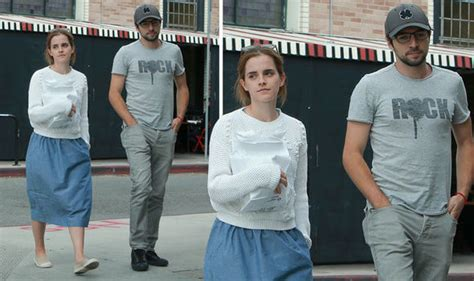 Emma Watson Steps Out With Actor Roberto Aguire After