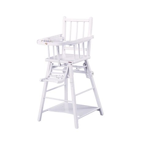 combelle chaise haute chaise haute transformable laqué blanc combelle pour