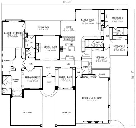 5 bedroom 1 house plans mediterranean style house plans 3619 square home