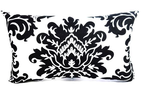 black and white pillow black and white damask pillow