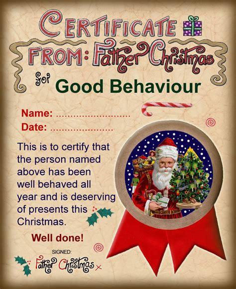 santa certificate  good behaviour rooftop post printables