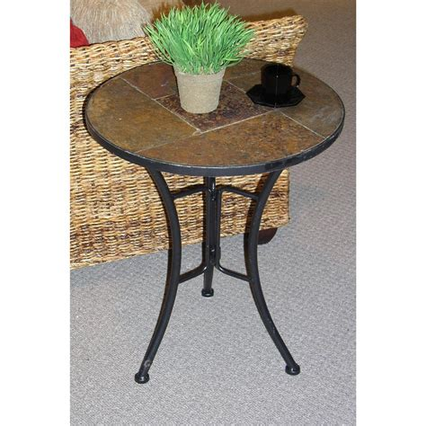 slate top end table 4d concepts round slate top end table 136308 kitchen