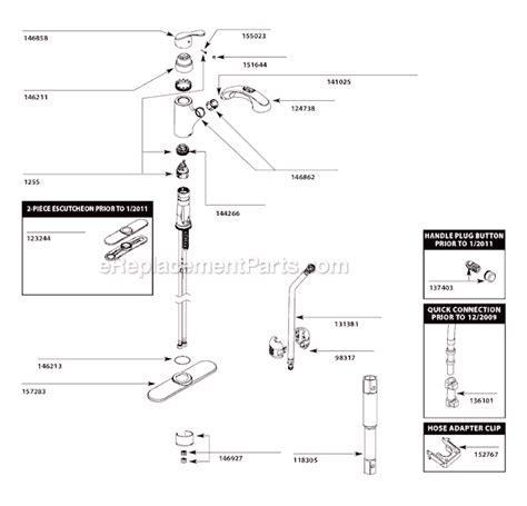 Moen CA87316C Parts List and Diagram : eReplacementParts.com