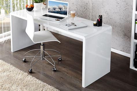 bureau laqué blanc design royale deco