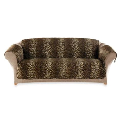buy sure fit 174 deluxe pet furniture sofa throw cover in burgundy from bed bath beyond