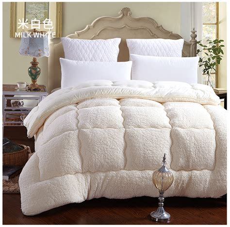 White Blanket Cover by 100 Fiber White Brown Winter Comforter Quilt Blanket