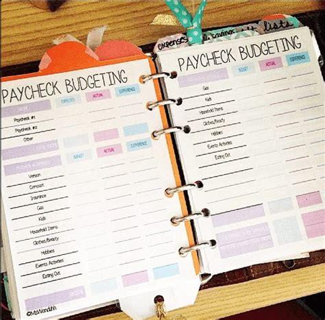 paycheck budgeting printable wendaful planning