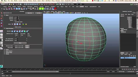 maya relaxing  smoothing   sculpt polygon tool