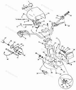 Polaris Atv 1999 Oem Parts Diagram For Handlebar
