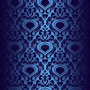 Papier Peint Bleu Foncé : papier peint bleu fonc sans joint illustration de vecteur illustration du l gant fleur ~ Melissatoandfro.com Idées de Décoration