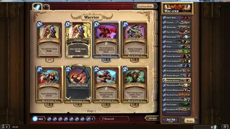 Warrior Decks Hearthstone Basic by Image Hearthstone Warrior Deck