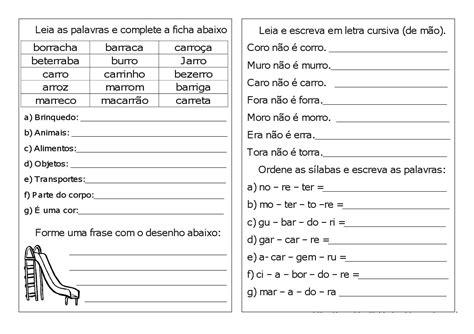 Atividades Com R E Rr Para Alfabetização