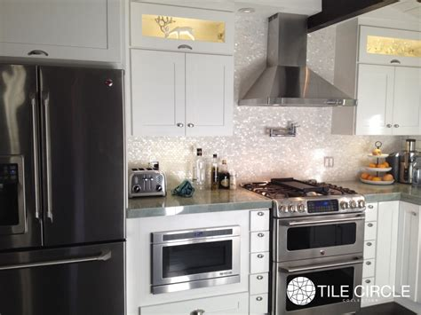 how to install a of pearl backsplash tile circle