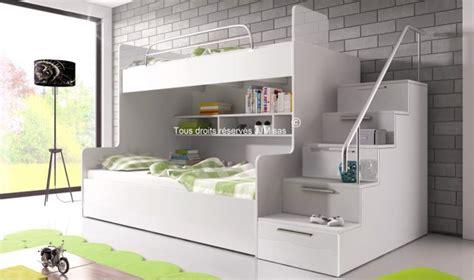 lit superpos avec escalier et rangements camille