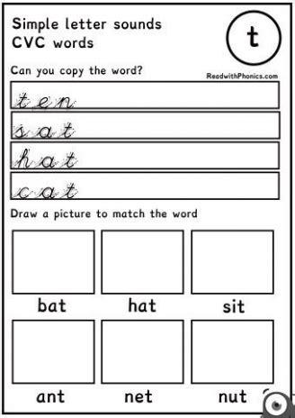 cvc word flashcards teaching ideas