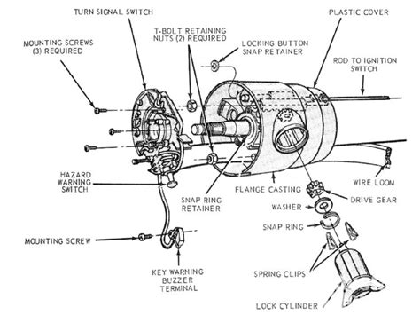Gm Steering Column Diagram by On A 1972 Mustang With A Standard Not Tilt Steering Wheel