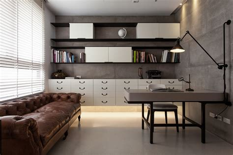 Open Shelving And Office Storage View Interior Design Ideas
