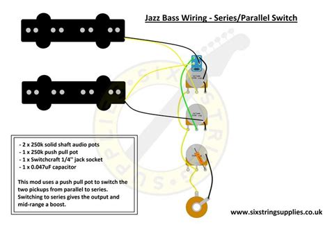 jazz bass wiring diagram with series parallel switch push pull pot