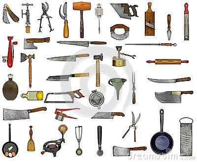 ustensile de cuisine liste collage d 39 ustensiles de cuisine de vintage images libres