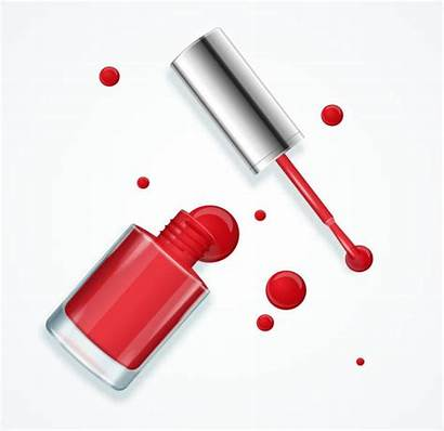 Nail Polish Vector Drip Clip Bottle Illustration