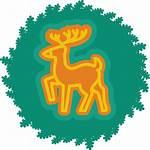 Deer Christmas Icon Wreath Icons Xmas Iconka