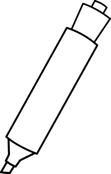 marker clipart black and white marker clip at clker vector clip