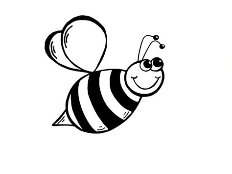Cartoon Drawing Honey Bee Pencil Drawing Collection - simple bumble bee drawing drawing sketch picture