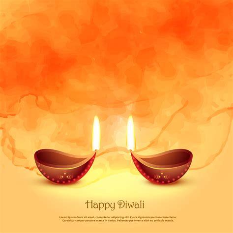 burning diya lamps  diwali festival greeting background