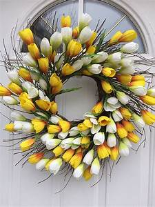 Easy, And, Inexpensive, Tulip, Spring, Wreath, From, Thrifty, Decor, Chick