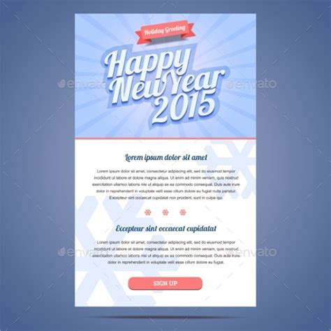sample  year email templates   psd eps