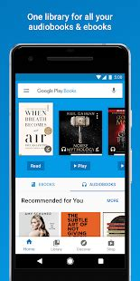 Google Play Books - Ebooks, Audiobooks, and Comics - Apps
