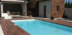 Piscine Avec Terrasse Bois : concept bois piscine et terrasse en bois ~ Nature-et-papiers.com Idées de Décoration