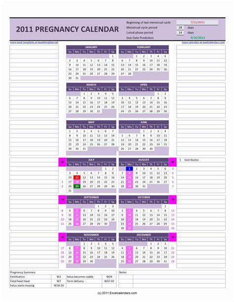Ovulation Calendar Excel Templates
