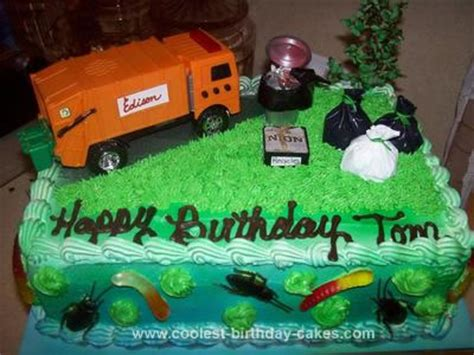 garbage truck cakes